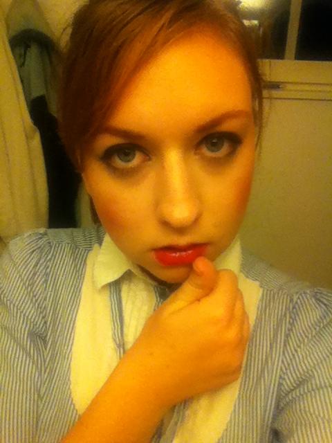 Lipstick Orange Caramel Look Petra Caroline